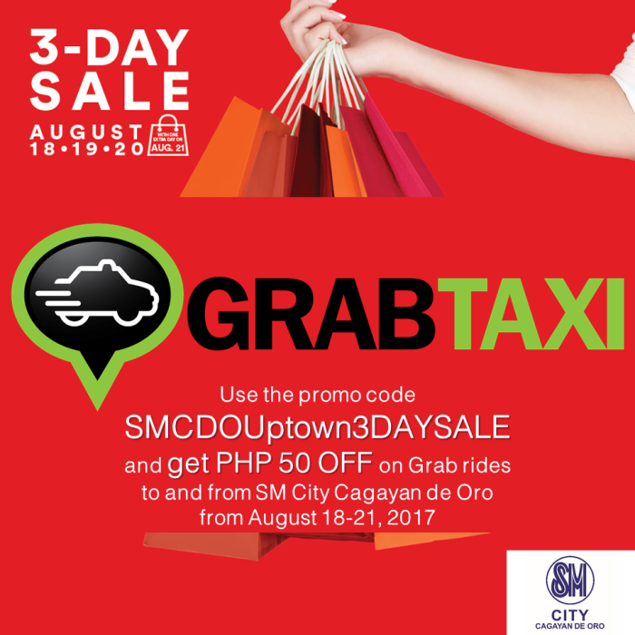 SM 3 day sale Grab Taxi
