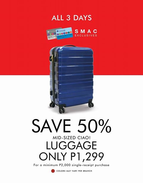 SM 3 day sale luggage