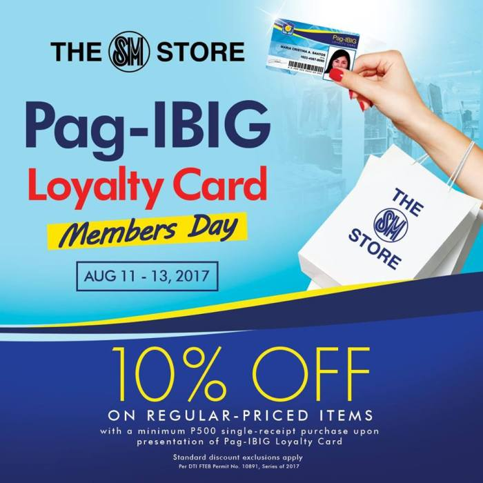 The SM Store Pag-IBIG Loyalty Card Members Day