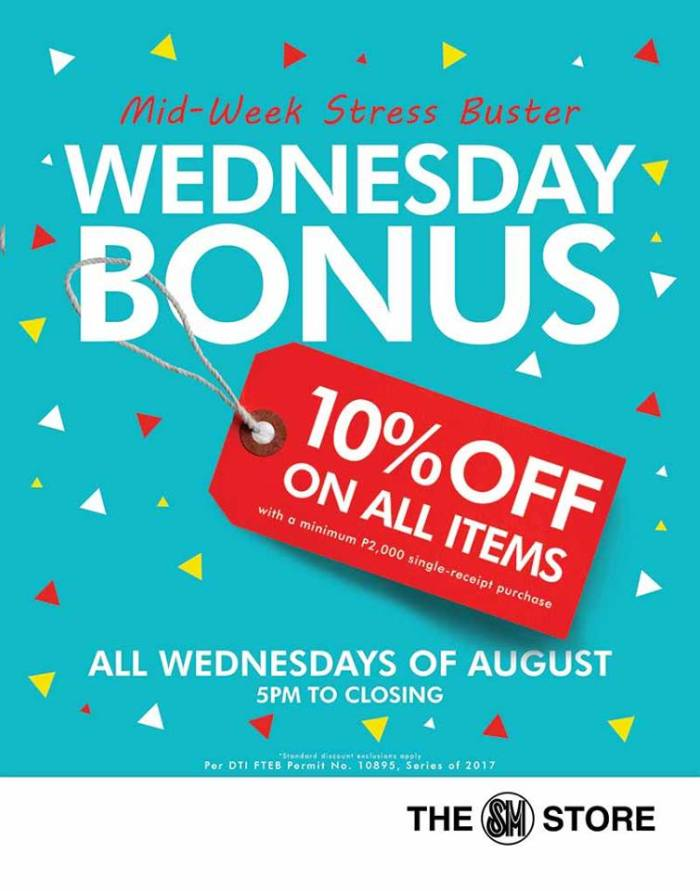SM Store Wednesday Bonus