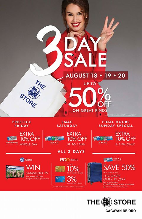 SM store 3 day Sale