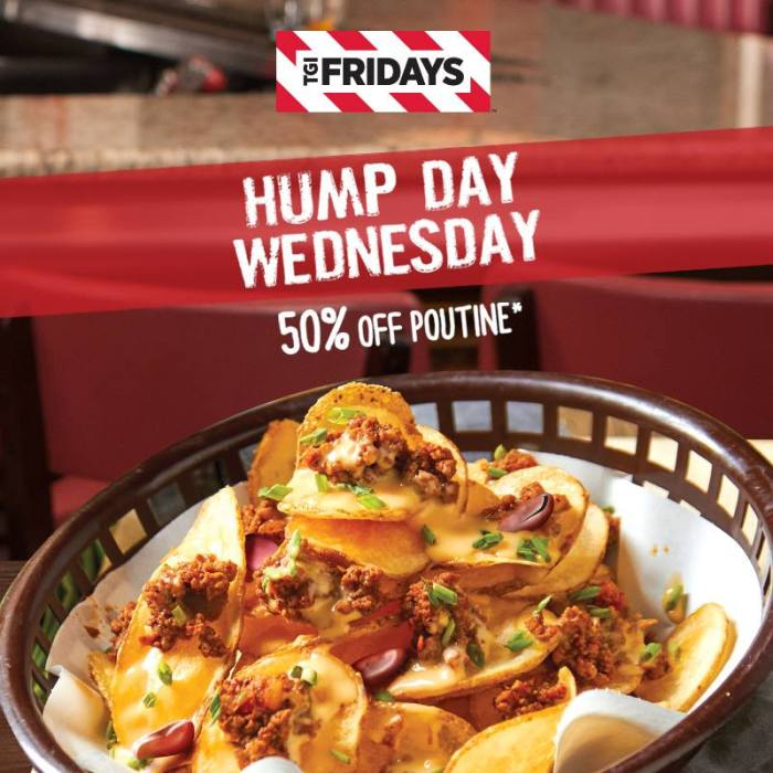 TGI Fridays Hump Day Wednesday