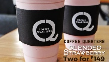 coffee quarters blended strawberry 2 for 149