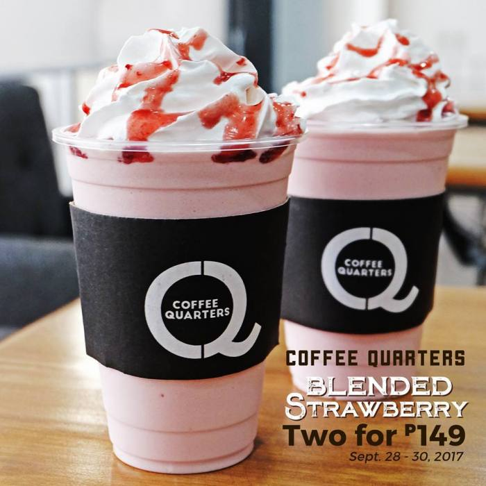 coffee quarters blended strawberry