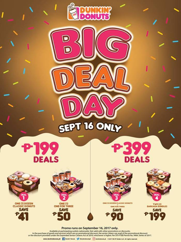 Dunkin Donuts Big Deal Day