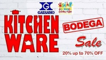 gaisano Kitchen Ware Bodega Sale featured