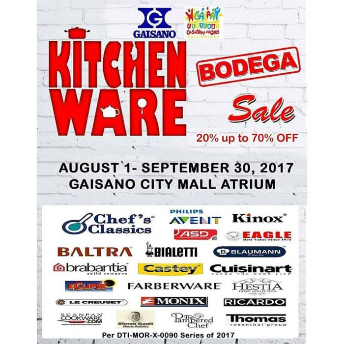 gaisano Kitchen Ware Bodega Sale
