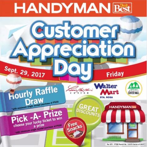 HandyMan Limketkai Customer Appreciation Day