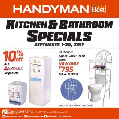 Handyman Kitchen and Bathroom Specials   CDO Promos