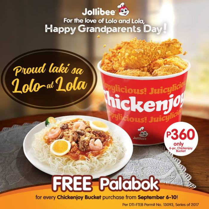 Jollibee Grandparents Day promo