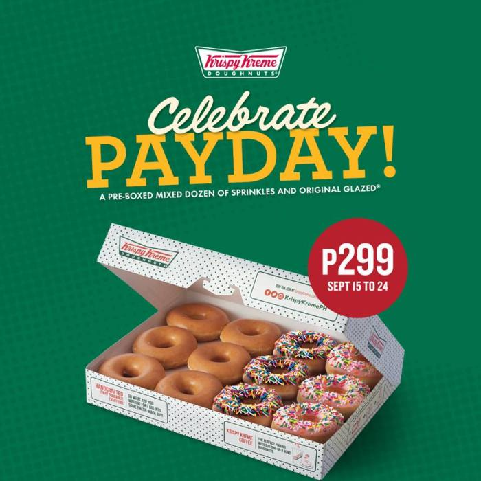Krispy Kreme payday promo