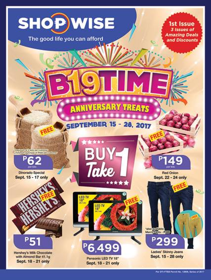 shopwise B19 time anniversary treats