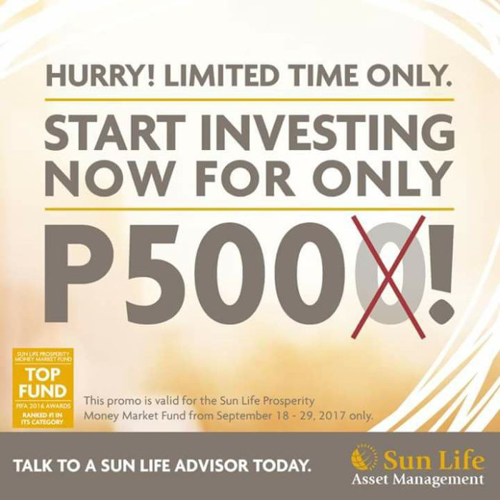 open a SunLife mutual fund account for only P500