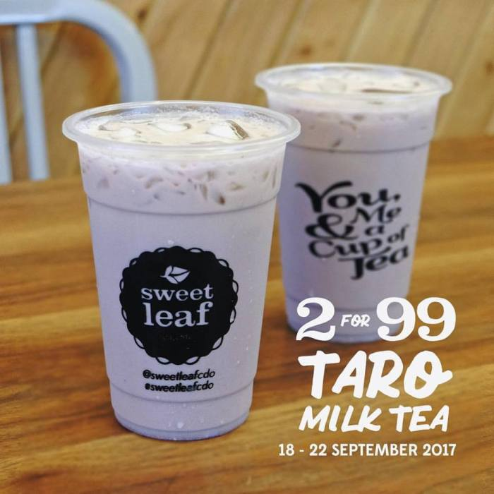 sweet leaf Taro milk tea two for P99