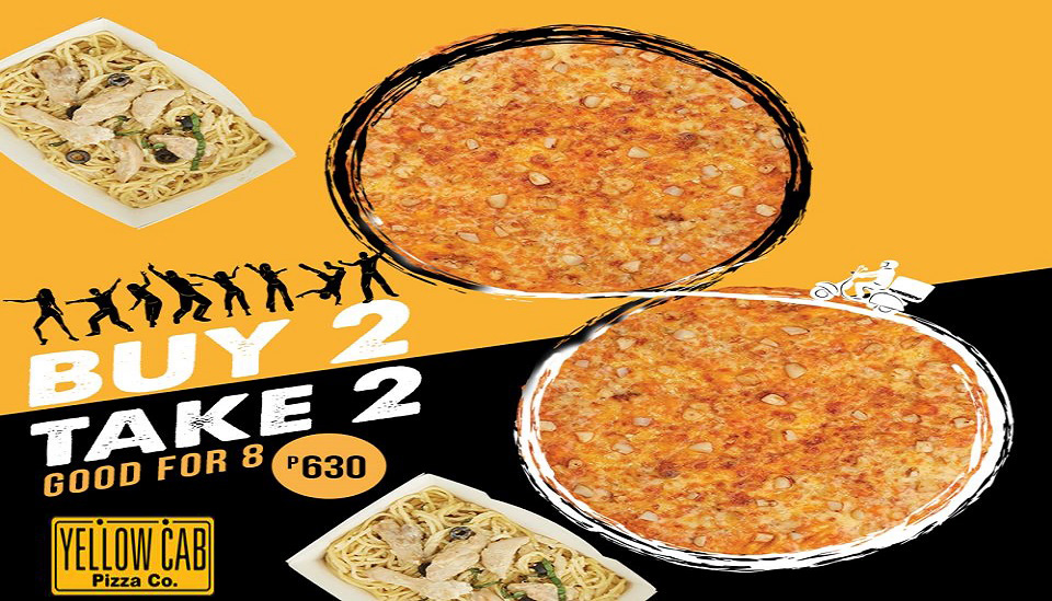 buy 2 take 2 pizza and pasta at yellow cab
