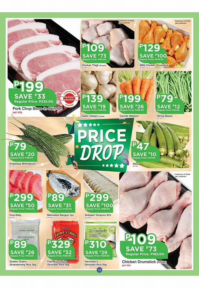 shopwise b19 time 2nd issue price drop veges and meat