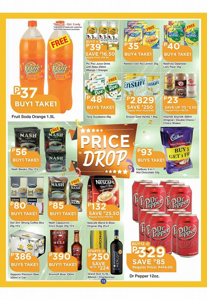 shopwise b19 time 2nd issue price drops drinks