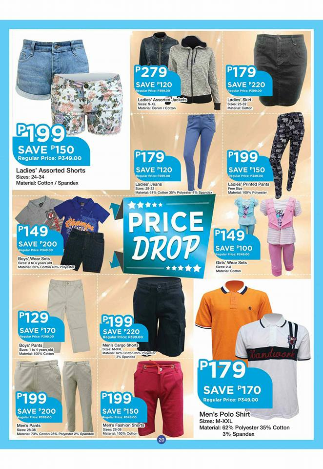 shopwise b19 time 2nd issue price drops clothings