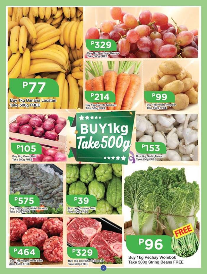 shopwise b19 anniversary treats veges and fruits