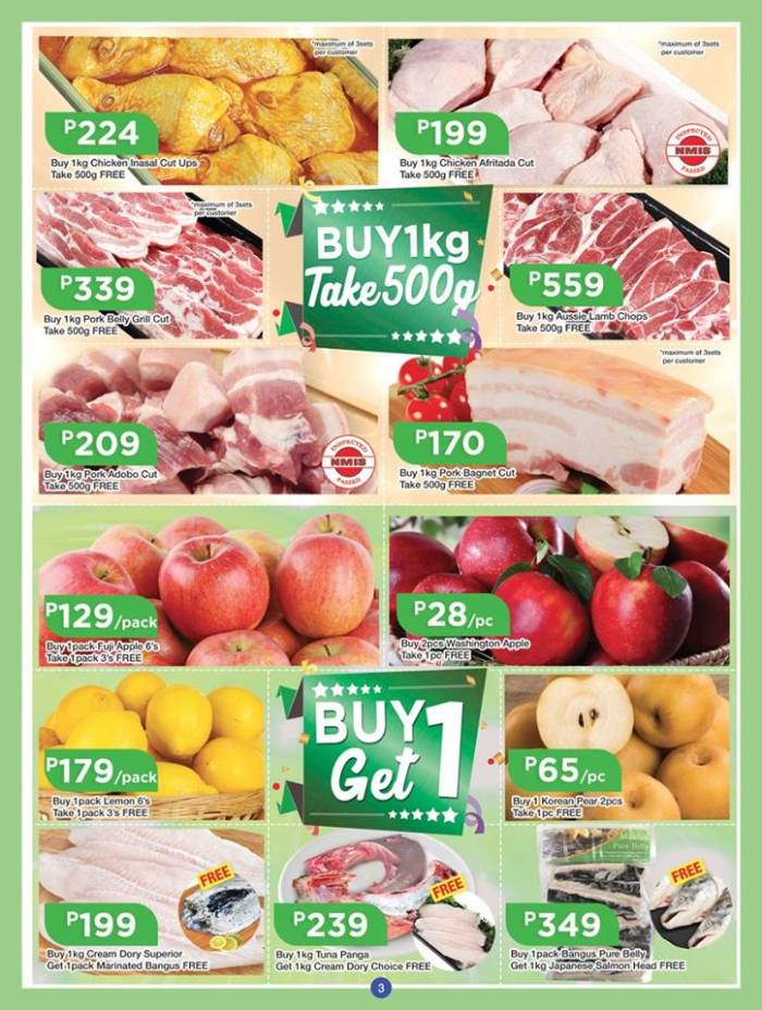 shopwise b19 anniversary treats 3rd issue fruits and meat