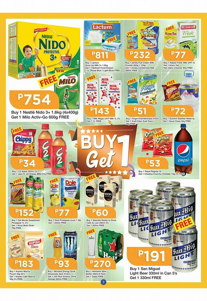shopwise b19 time 2nd issue buy 1 get 1 drinks and milks