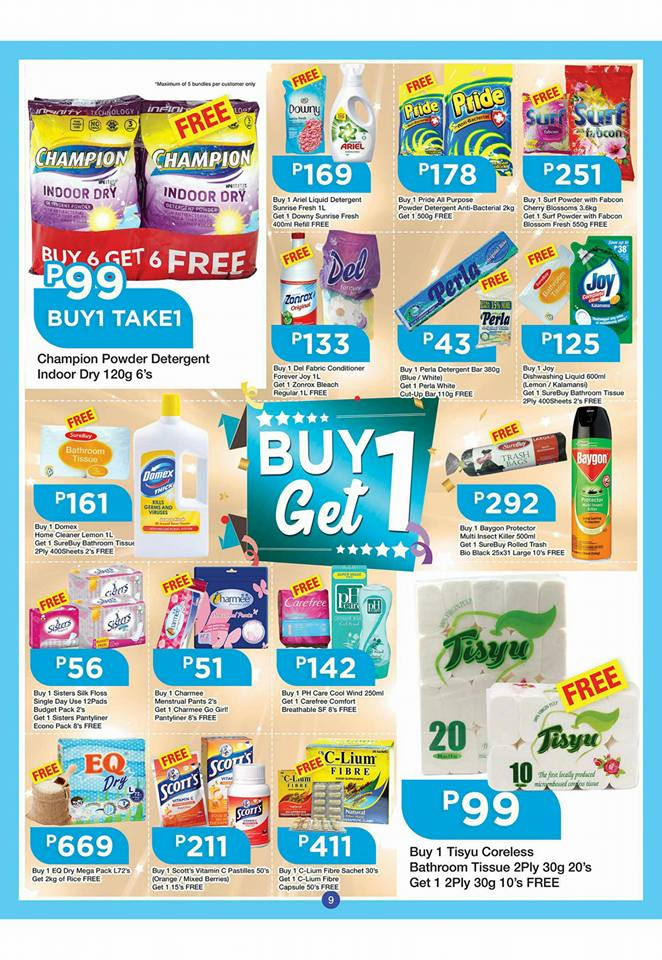 shopwise b19 time 2nd issue buy 1 get 1 washing