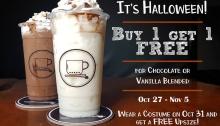 Chardiel Coffee Machine Halloween Promo FI