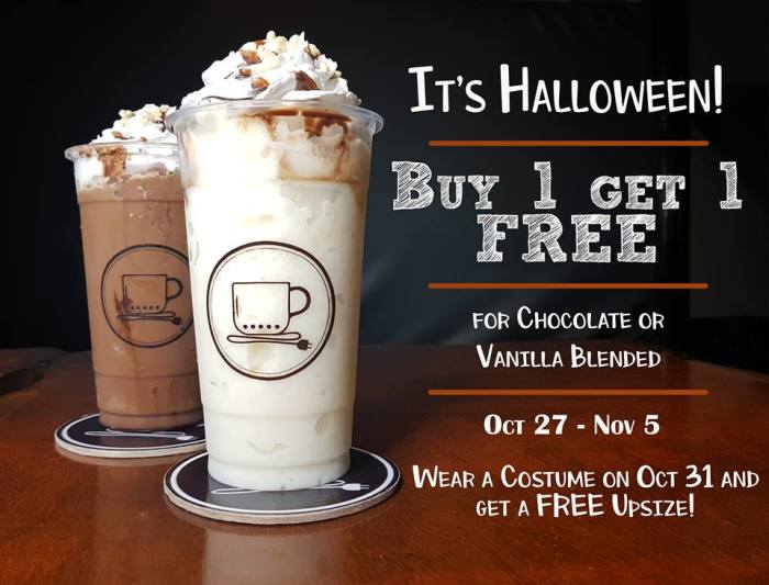 Chardiel Coffee Machine Halloween Promo