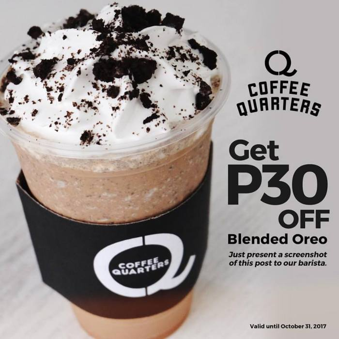 coffee quarter blended Oreo