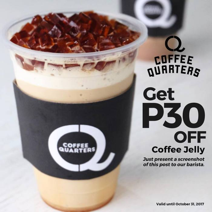 coffee quarters coffee jelly