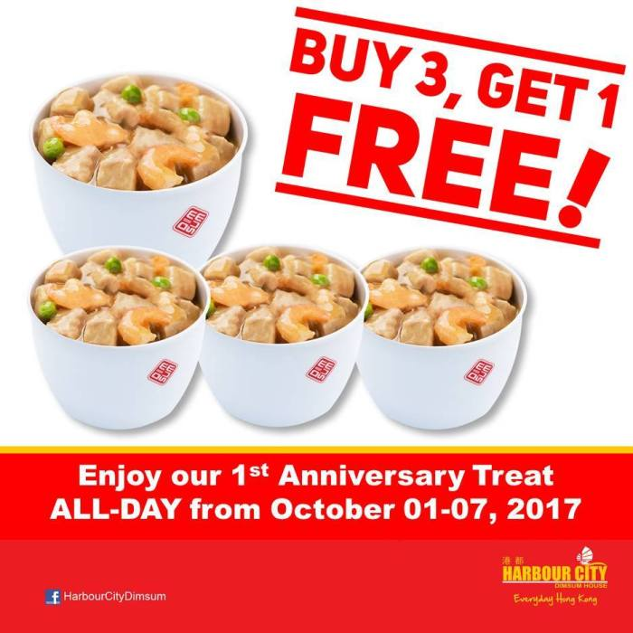 harbour city SM City anniversary buy 3 get 1