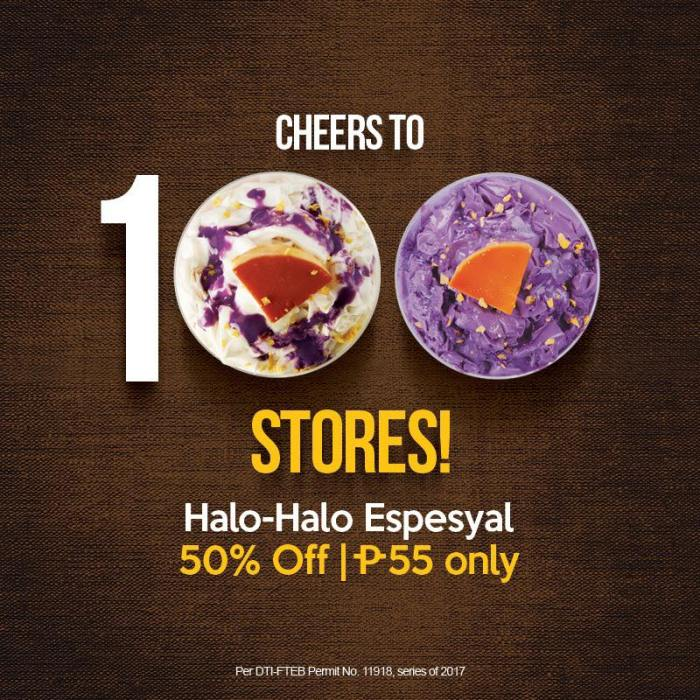 kuya J halo2x espesyal - 100 stores celebration