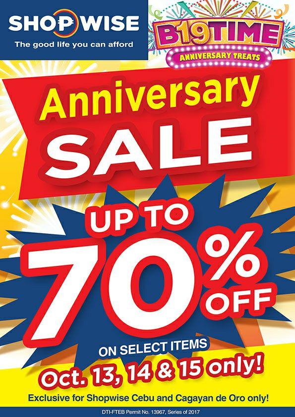 shopwise cdo and cebu anniversary sale