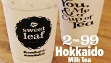 Sweet Leaf Bubble Tea Cafe Hokkaido Milk Tea Promo FI