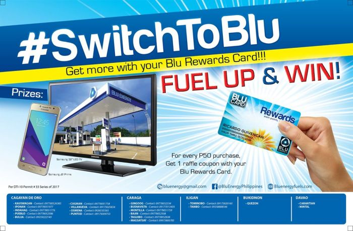 SwitchToBlu Get more out of your Blu Rewards Card Promo