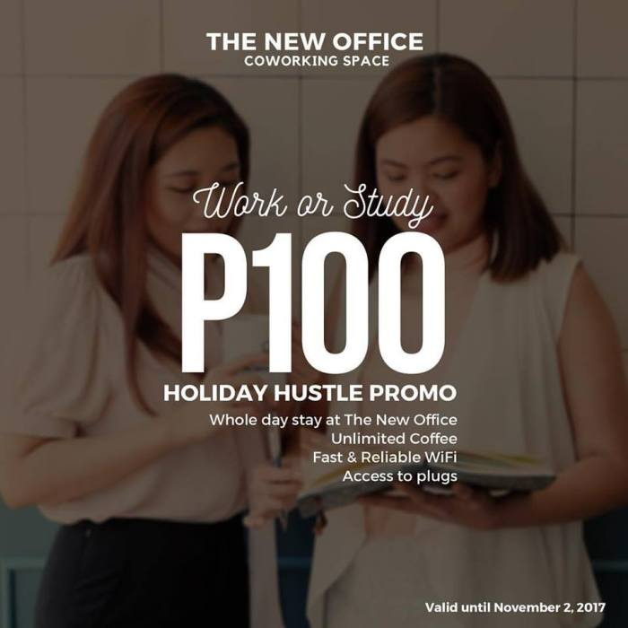 The New Office Coworking Space Holiday Hustle Promo