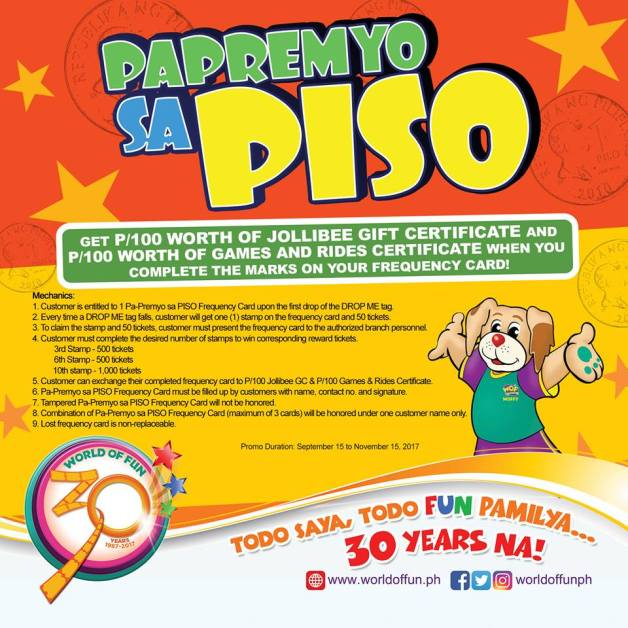 World of Fun Papremyo sa Piso Promo | CDO Promos