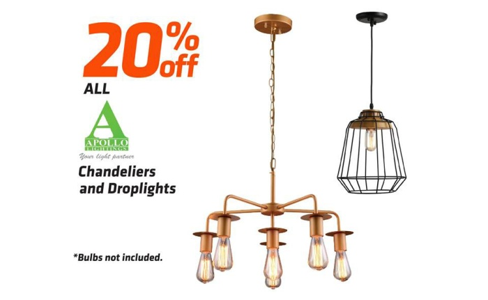Apollo chandelier or droplight