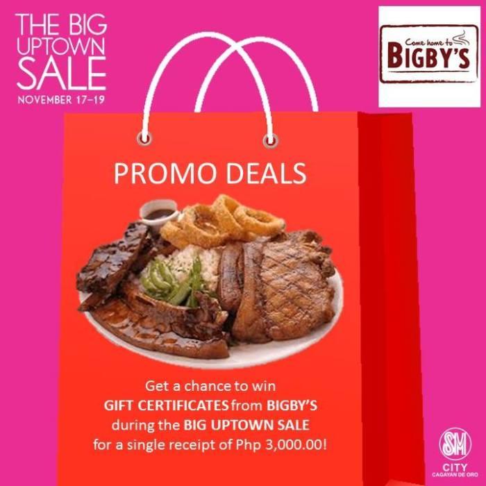 bigbys SM big uptown sale