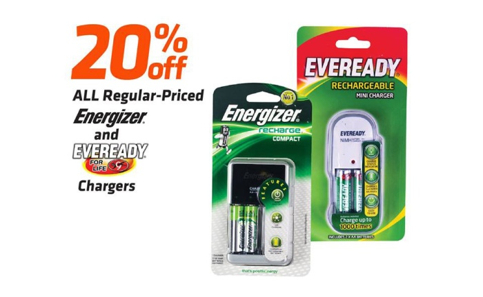 Energizer and Eveready chargers