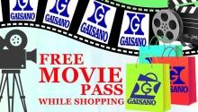 Gaisano free movie pass FI