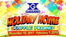 Gaisano holiday home raffle promo FI