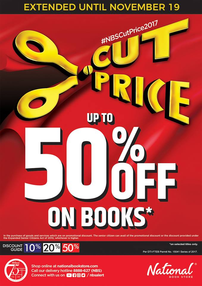 National Book Store Cut Price 2017