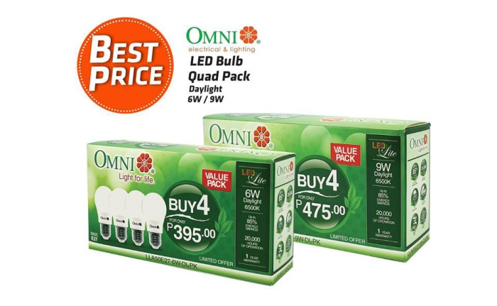 Omni LED Bulb Quad Pack