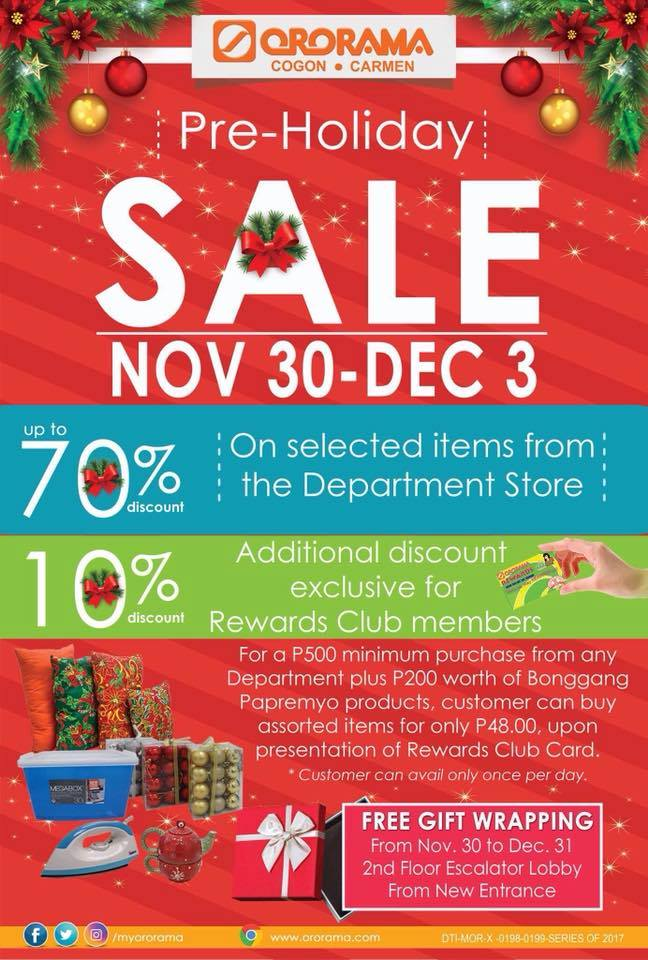 ororama preholiday sale
