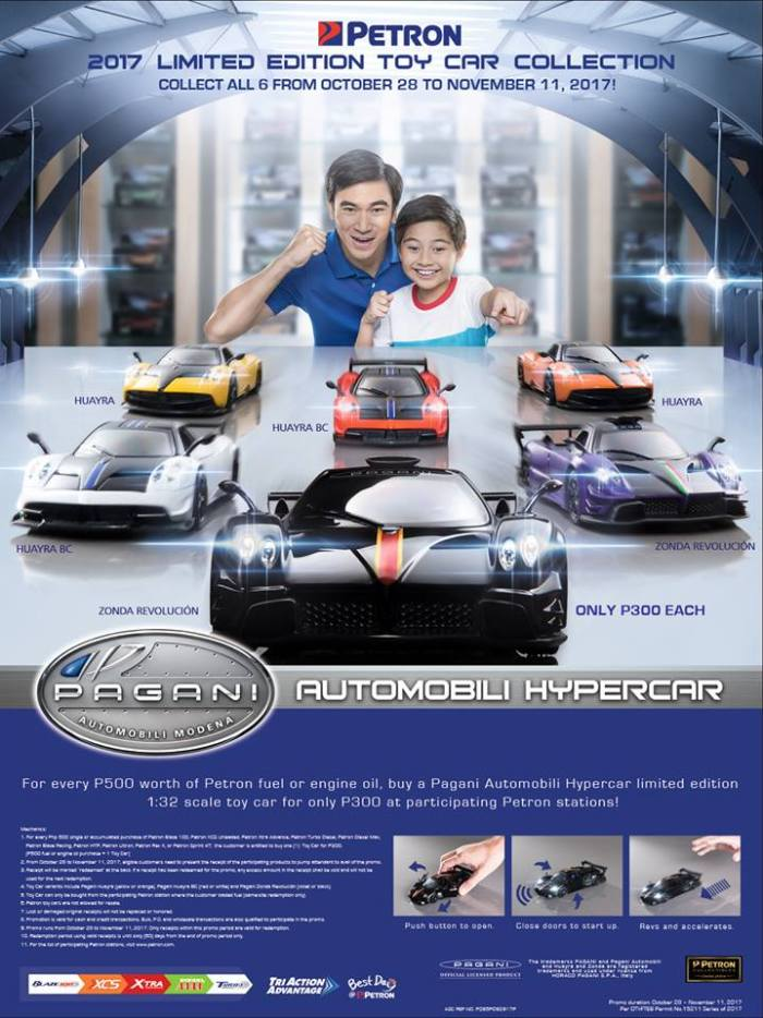 Petron Pagani Automobili Hypercar Limited Edition Toy Car Collection