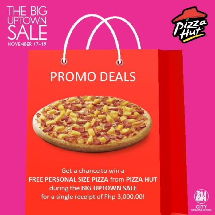 pizza hut SM big uptown sale