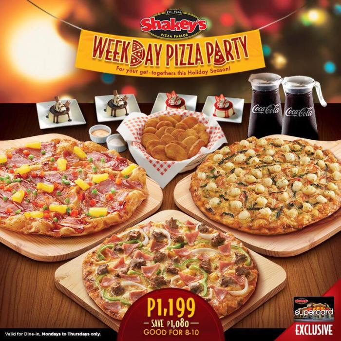 shakeys Weekday Pizza Party