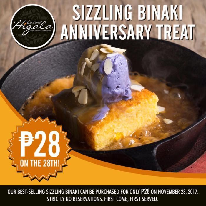 sizzling binaki anniversary treat