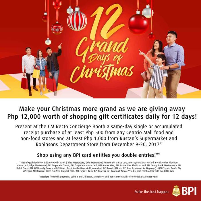 12 grand days of Christmas